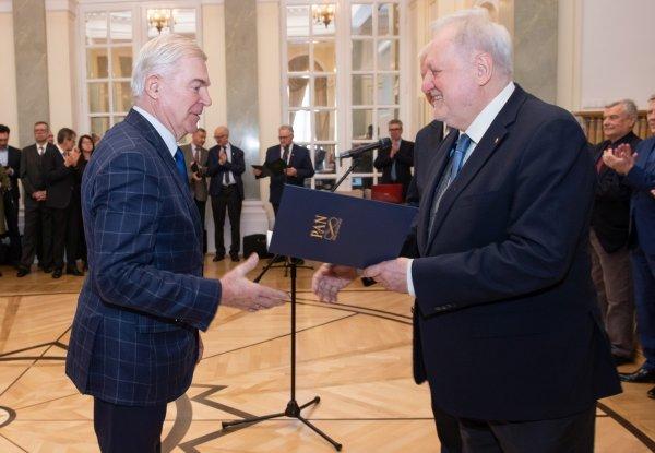 Nominacje na członków Polskiej Akademii Nauk wręczono 14.01.2020r. w Warszawie